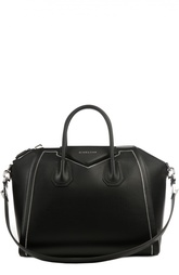 Кожаная сумка с металлической отделкой Givenchy