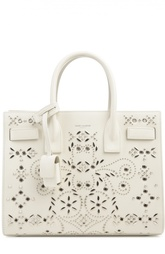 Кожаная сумка с металлическим декором Saint Laurent