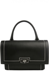 Кожаная сумка с клапаном и металлической отделкой Givenchy