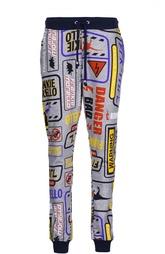 Хлопковые брюки с принтом Frankie Morello