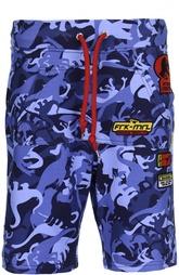 Хлопковые шорты с принтом Frankie Morello