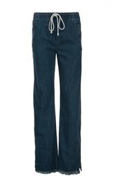 Прямые джинсы с эластичным ремнем и разрезами Chloé