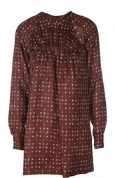 Шелковая удлиненная блуза с контрастным принтом Isabel Marant