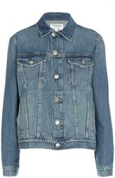 Джинсовая куртка свободного кроя с накладными карманами Frame Denim