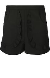 Мини-шорты с завышенной талией и глубокими нашивными карманами REDVALENTINO