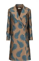 Двубортное пальто с контрастной вышивкой Dries Van Noten
