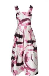 Шелковый приталенный сарафан с ярким принтом Dolce & Gabbana