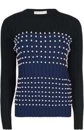 Пуловер фактурной вязки с декоративной отделкой Emilio Pucci