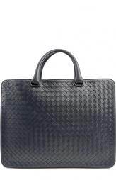Кожаный портфель в технике intrecciato Bottega Veneta