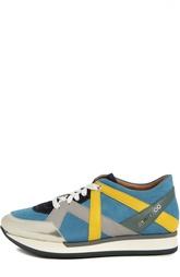 Кроссовки color block с металлизированными вставками London Jimmy Choo