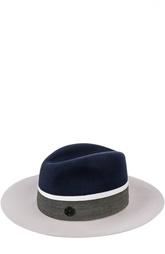 Двухцветная фетровая шляпа Maison Michel