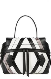 Кожаная сумка с контрастными вставками Wave Tod's
