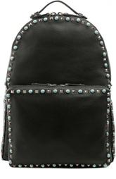 Кожаный рюкзак с металлической отделкой Valentino