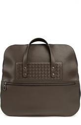 Спортивная сумка с внешним карманом на молнии Bottega Veneta
