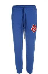Хлопковые брюки с манжетами Moschino