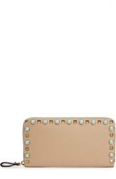 Кожаное портмоне с металлической отделкой Valentino