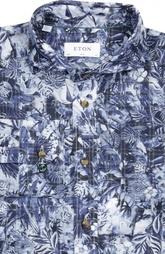 Рубашка с воротником акула и принтом Eton