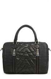 Кожаная сумка с декоративной прострочкой Zadig&Voltaire Zadig&;Voltaire