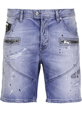 Джинсовые шорты с молниями Just Cavalli