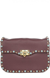 Кожаная сумка на ремне с узором Rockstud Valentino