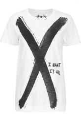 Прямая футболка с круглым вырезом и принтом Colored Revolution