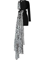 мини-платье с драпированной панелью Versus