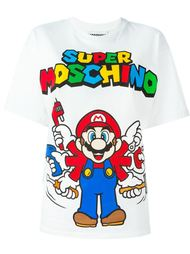 футболка с принтом super Moschino  Moschino