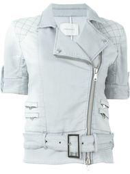 джинсовая куртка с поясом и короткими рукавами Pierre Balmain