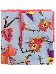 шарф с принтом и бахромой Emilio Pucci
