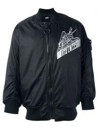 куртка-бомбер с принтом KTZ
