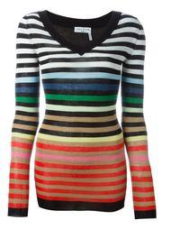 свитер в полоску c V-образным вырезом  Sonia Rykiel