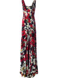 вечернее платье с принтом ромашек и маков Dolce & Gabbana