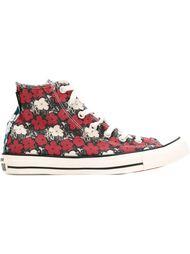 высокие кеды с цветочным принтом Converse