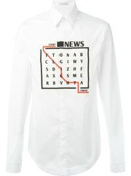 рубашка с принтом игры слов J.W. Anderson