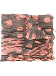 шарф с принтом и мятым эффектом Yohji Yamamoto