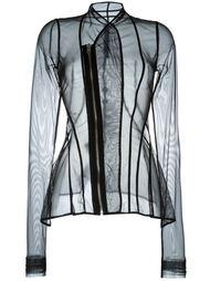 прозрачный пиджак на молнии Rick Owens Lilies
