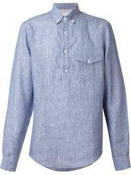 полосатая рубашка с воротником на пуговицах Brunello Cucinelli