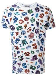 футболка с принтом кристаллов Moschino