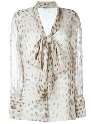 прозрачная блузка с завязкой на бант Agnona