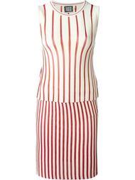 вязаное платье в полоску  Fausto Puglisi