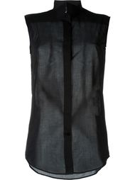 прозрачная блузка без рукавов  Maison Margiela