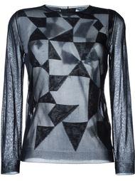 прозрачный свитер с геометрическим узором Giorgio Armani