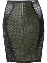 стеганая юбка 'Junior Gaultier'  Jean Paul Gaultier Vintage
