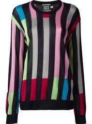 вязаный свитер в полоску  Fausto Puglisi