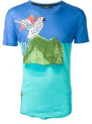 футболка с принтом попугая Dolce & Gabbana