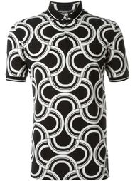 футболка-поло  с узором  Dolce & Gabbana