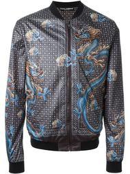 куртка-бомбер с принтом драконов Dolce & Gabbana