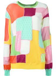 свитер с панельным дизайном  Moschino