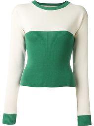 свитер колор-блок  Mm6 Maison Margiela