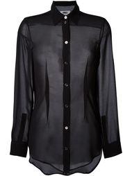 прозрачная рубашка  Mm6 Maison Margiela